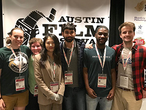 Seaver graduate students and alumni gathered at the Austin Film Festival