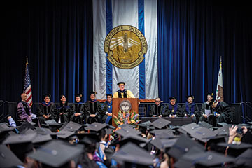 Marrs delivers address at GBS commencement