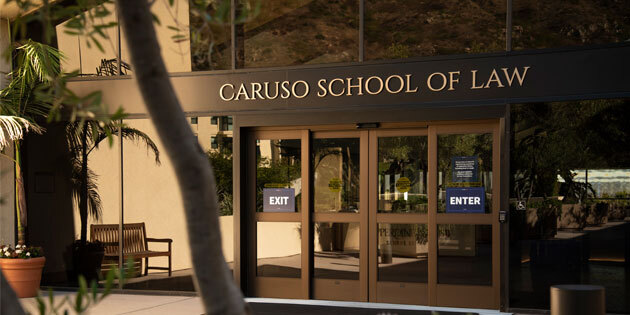 Caruso School of Law entrance
