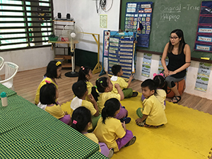 Diana Inguito in the classroom