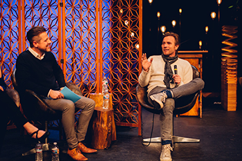 Steve Ralph interviewing actor Ewan McGregor at EPIC 2019
