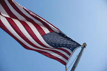 Flag flying in the breeze