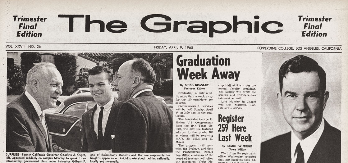 Screenshot of 1965 edition of The Graphic newspaper