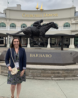 Alicia Jessop at Churchill Downs for Award Banquet