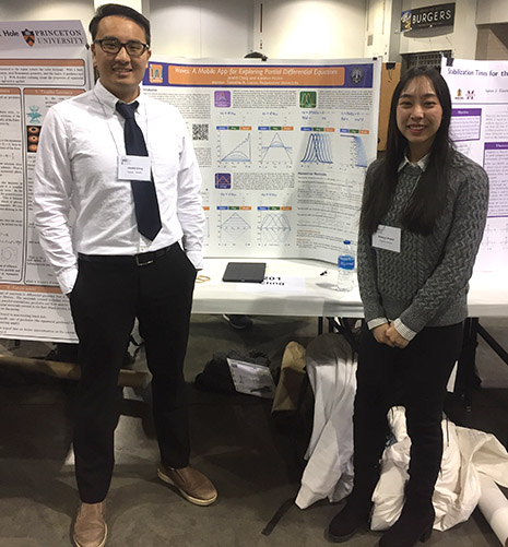 Jereld Chng and Katelyn Pozon presenting at the Joint Mathematics Meeting