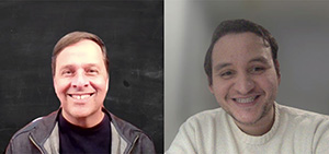 Steve Rouse and Juan Carlos Hugues Discuss Research Collaboration Over Zoom