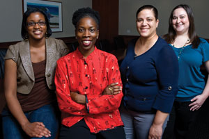 from left: Shaquita Tillman, Thema Bryant-Davis, Kimberly Smith, Alison Marks