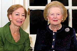 Alice Starr (left) and Lady Thatcher