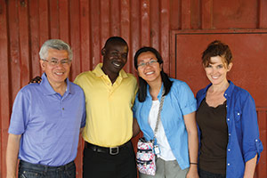 (L-R) Hung Le, MITS program director Frances Mbuvi, Loan Kim, and Donna Plank.