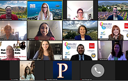 Malibu Chamber of Commerce Women's Leadership Awards in the Zoom virtual event.