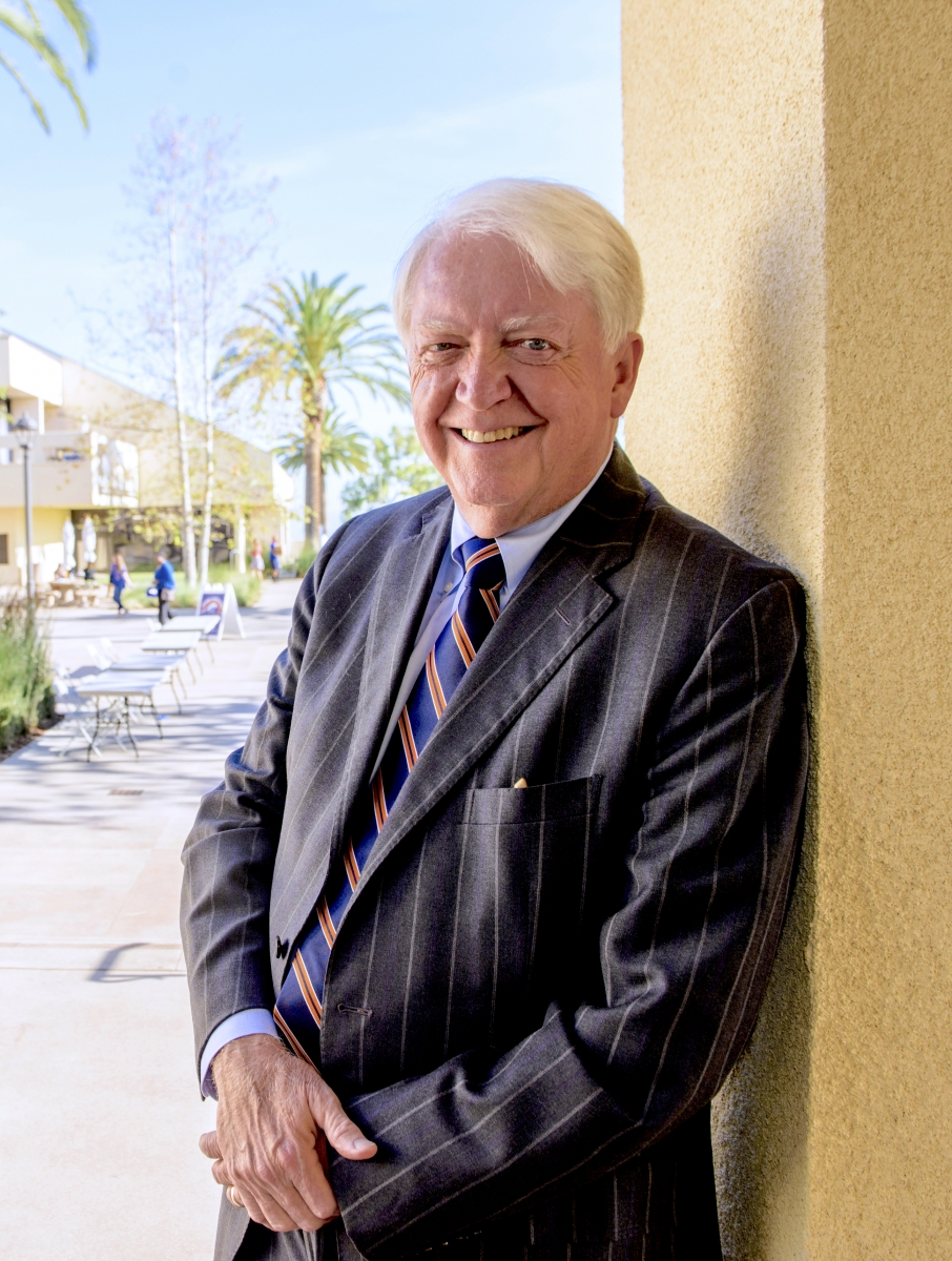 Chancellor Michael F. Adams on the Pepperdine campus