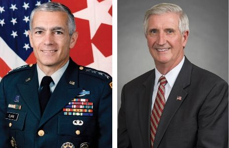 General Wesley Clark and Secretary Andy Card