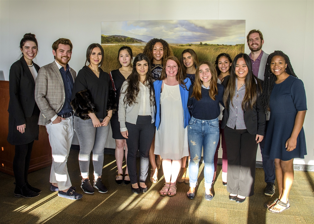 Students enrolled in the inaugural Philanthropy for Social Change course at Pepperdine University