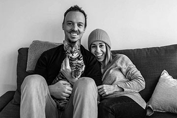 Morgana Wingard ('05) with her husband Jaco Bester