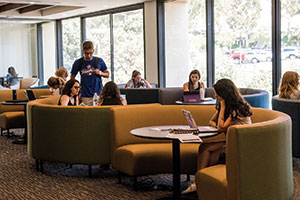 Pepperdine students at Payson Library