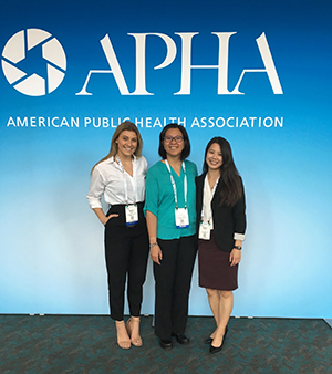 Sydney Sauter, Loan Kim, and Naomie Louie at American Public Health Association Conference