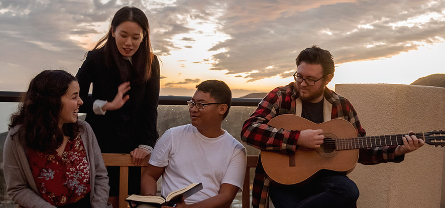 Students gather for small group spiritual programming