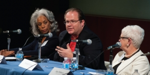 Dr. David Smith speaking at panel discussion