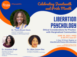 Liberation Psychology: Ethical Consideration For Practice With Marginalized Communities