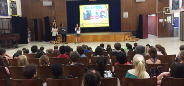 Graduate School of Education and Psychology Students Educate Local Middle School Community About Bullying Prevention Methods
