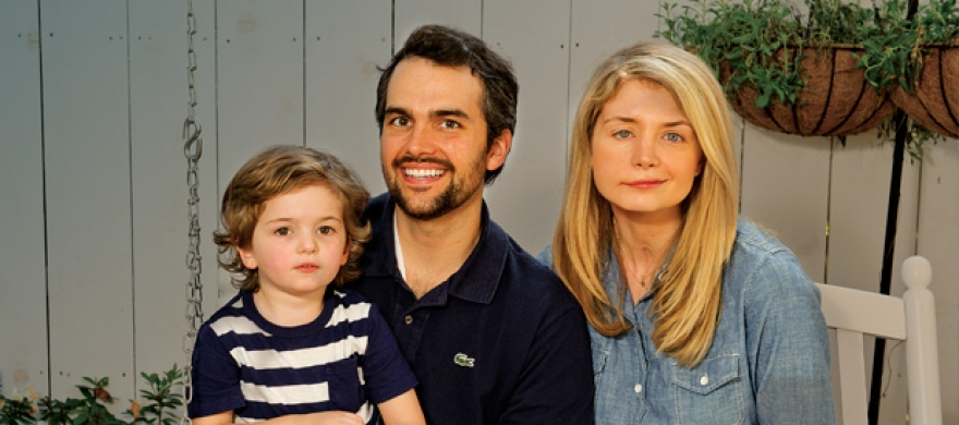 Jay and Katherine Wolf and their son - Pepperdine Magazine