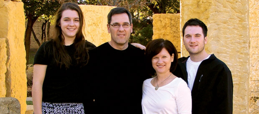John and Sara Barton and their children - Pepperdine Magazine