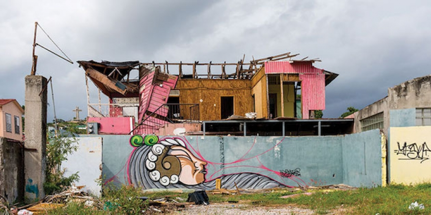 A destroyed house in Puerto Rico after Hurricane Maria - Pepperdine Magazine