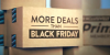 """""""More Deals than Black Friday"""" sign on Amazon package"""