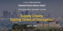 School of Public Policy to Present Distinguished Speaker Series Discussion on Supply Chains During Disasters