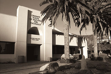 View of GSEP building on Malibu campus